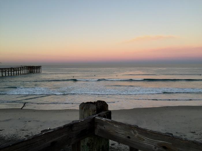 2.10.16 PB Pier at Sunrise San Diego, Pacific Beach