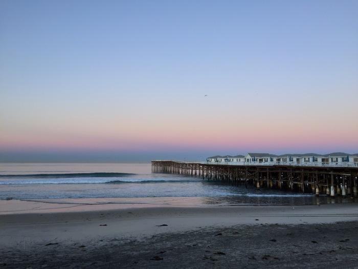 2.11.16 Pacific Beach, San Diego Sunrise on the Pier