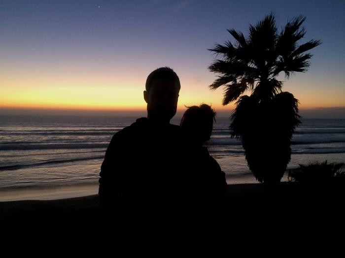 2.14.16 Valentines Sunset on Pacific Beach San Diego