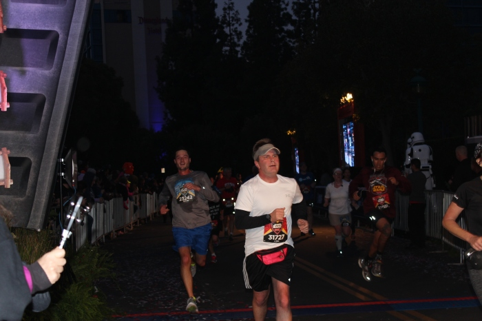 Disneyland Star Wars 10K Finish Line