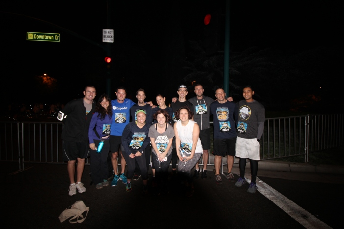 DisneyLand Star Wars Half Marathon Expedia Team