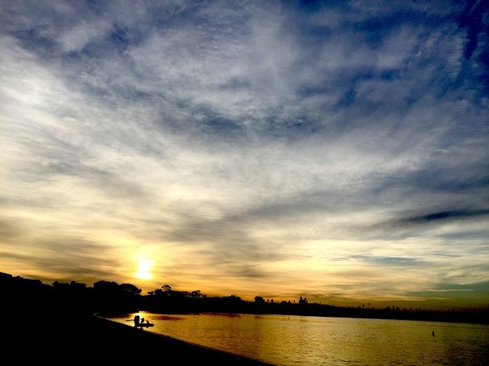 Feb Sunrise over Mission Bay, San Diego