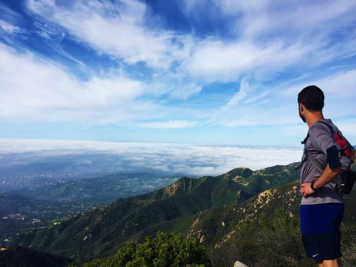 David at the top Montecito Peak