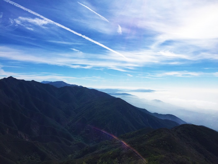 Mountains and clouds from Montecito Peak